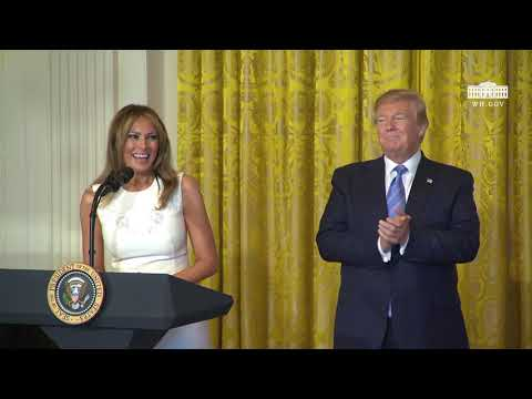 President Trump and The First Lady Participate in the Celebration of Military Mothers