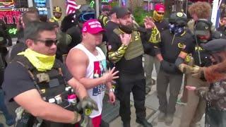特朗普支持者在首都华盛顿集会 抗议总统大选结果 - YouTube