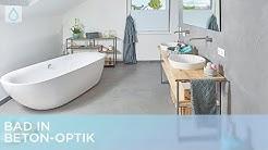 Bad in Beton-Optik   Renovieren mit Elmar