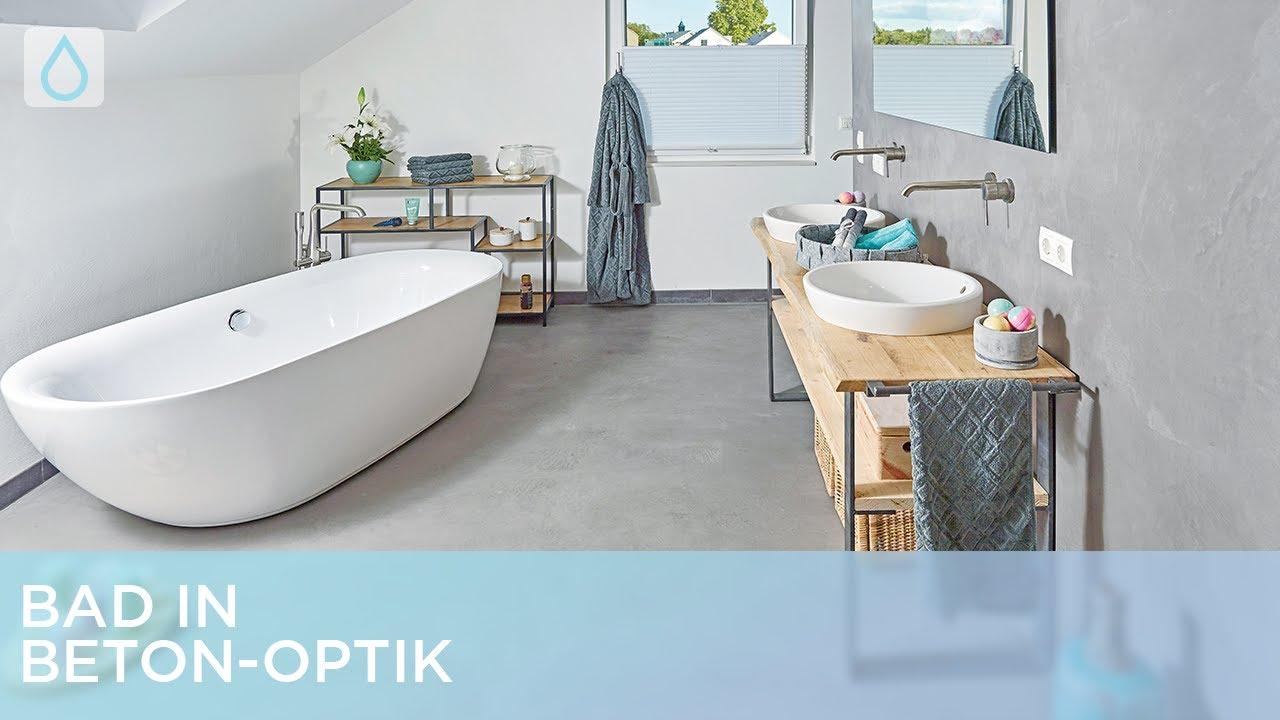 Bad in Beton Optik   Renovieren