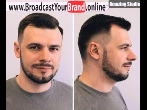 Fade Haircut für Männer mit Geheimratsecke