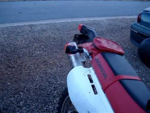 Honda XR650l Stock vs. XR's Only exhaust