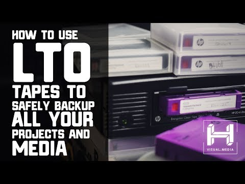 How to use LTO Tapes to Safely Backup All Your Projects