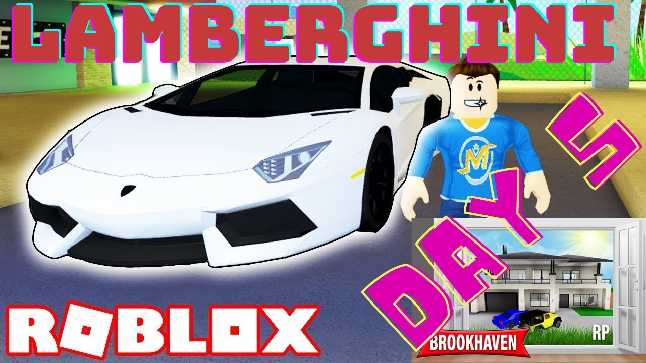 Brookhaven 🏡RP in Roblox Day 5 Lamberghini Ride YouTube