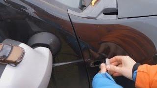 Замена ламп поворотников в крыльях Renault Duster на светодиодные