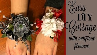DIY CORSAGES // ARTIFICAL FLOWERS