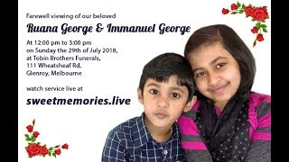 PART 1 - Farewell viewing of Ruana and Immanuel - Melbourne 29 July 2018