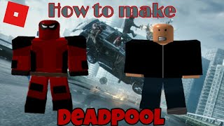 How to make Deadpool in Roblox Superhero life 2