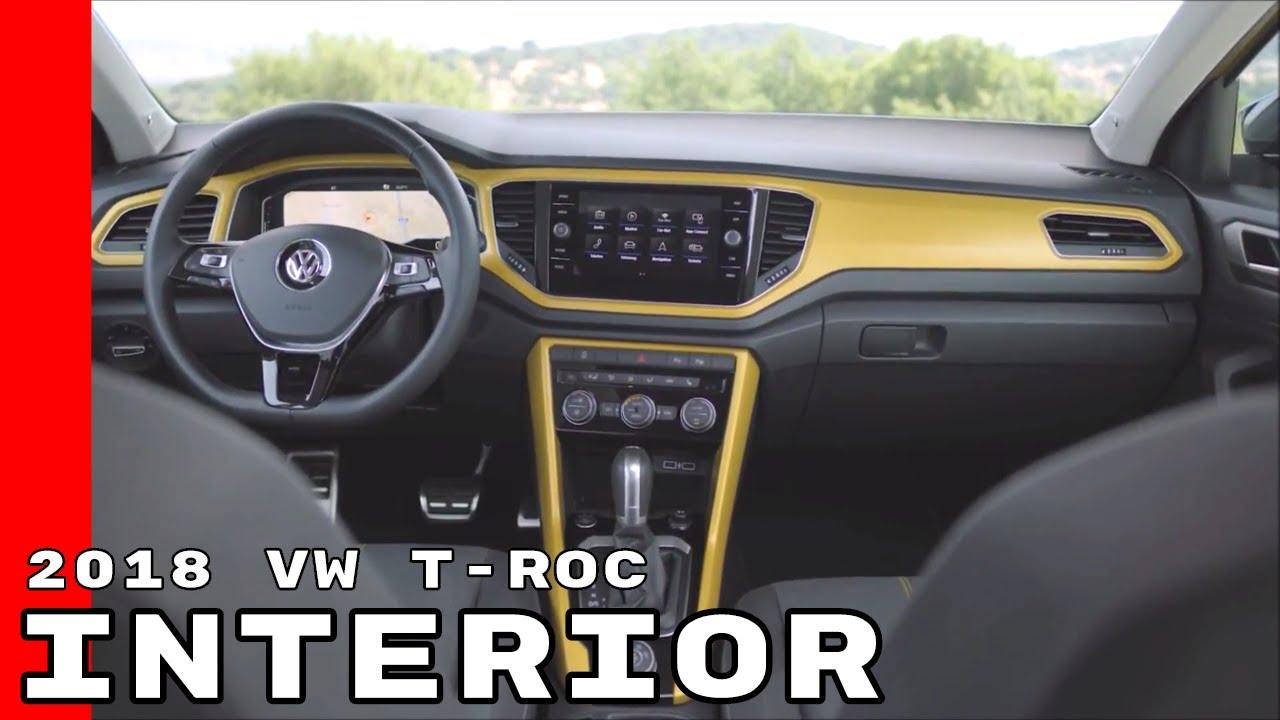 2018 vw t roc interior youtube for Interior volkswagen t roc