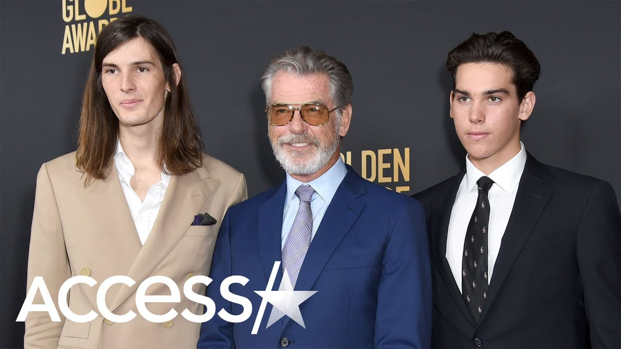 Pierce Brosnan Walks the 2020 Golden Globes Red Carpet With ...