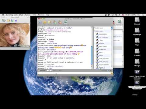 Change your audio settings with Camfrog Video Chat (Mac OS X)