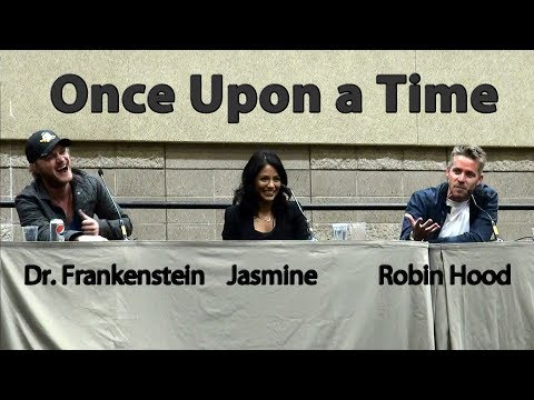 Once Upon a Time Panel Sean Maguire Robin Hood Karen David Jasmine David Anders Frankenstein Comicon