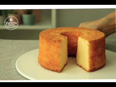 How To Make Vanilla Chiffon Cake Basic Recipe Youtube