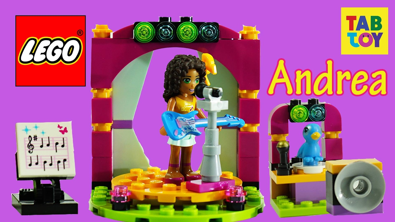 Lego Friends Andreas Musical Duet Stage Build Review Tap Toy Storm