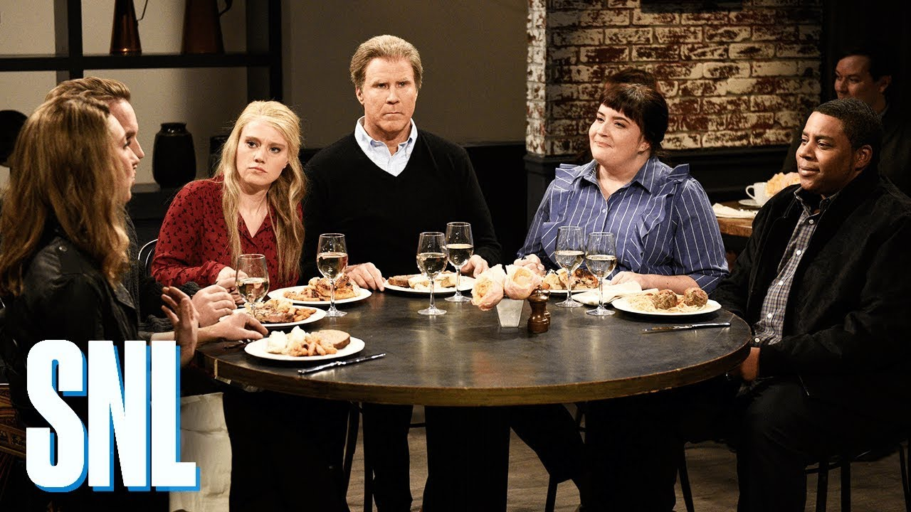 Image result for snl dinner discussion
