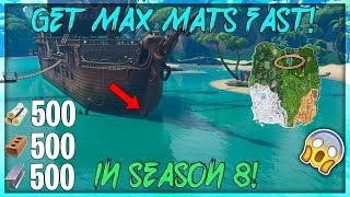 How To Get MAX MATS Fast In Season 8! (Fortnite Battle Royale)