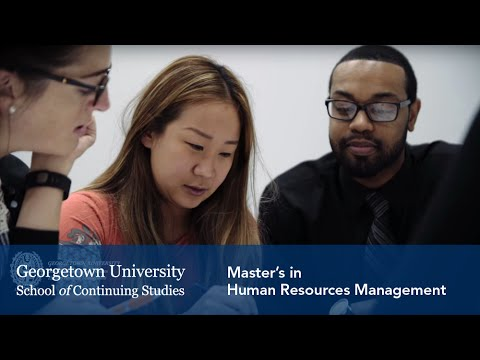 Master's in Human Resources Management at Georgetown University