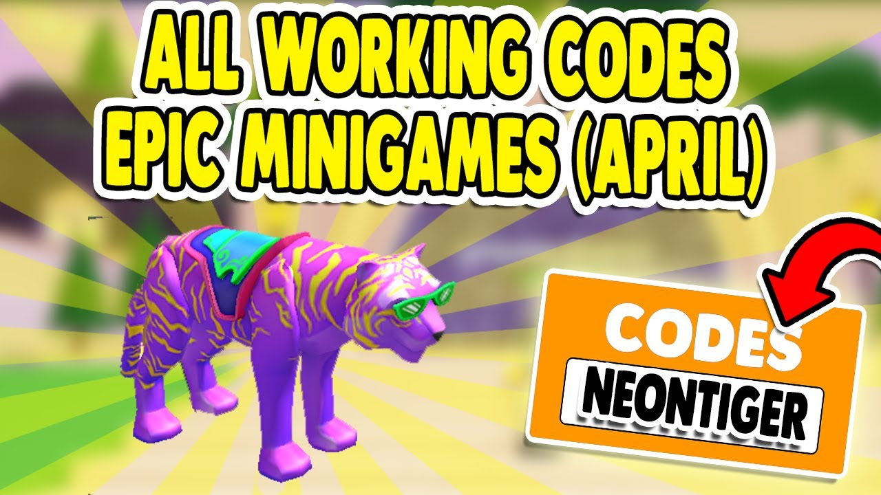 All 4 Working New Secret Epic Minigames Codes April 2020 Youtube