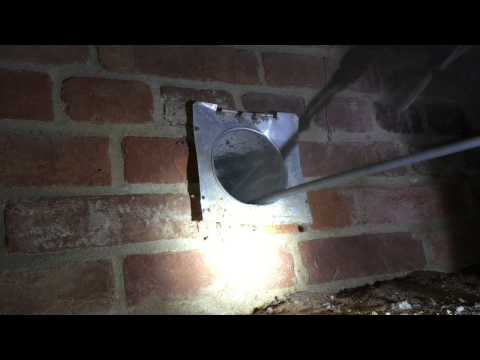 Dryer Vent Cleaning - Crawlspace - Silver Spring MD By Giross Hydro Green Clean