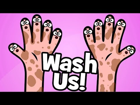 Wash your hands Children's Song | Wash us Healthy habits Song | Hooray Kids Songs & Nursery Rhymes