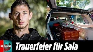 Als Sala rausgetragen wurde, gab es Applaus | Beerdigung von Emiliano Sala