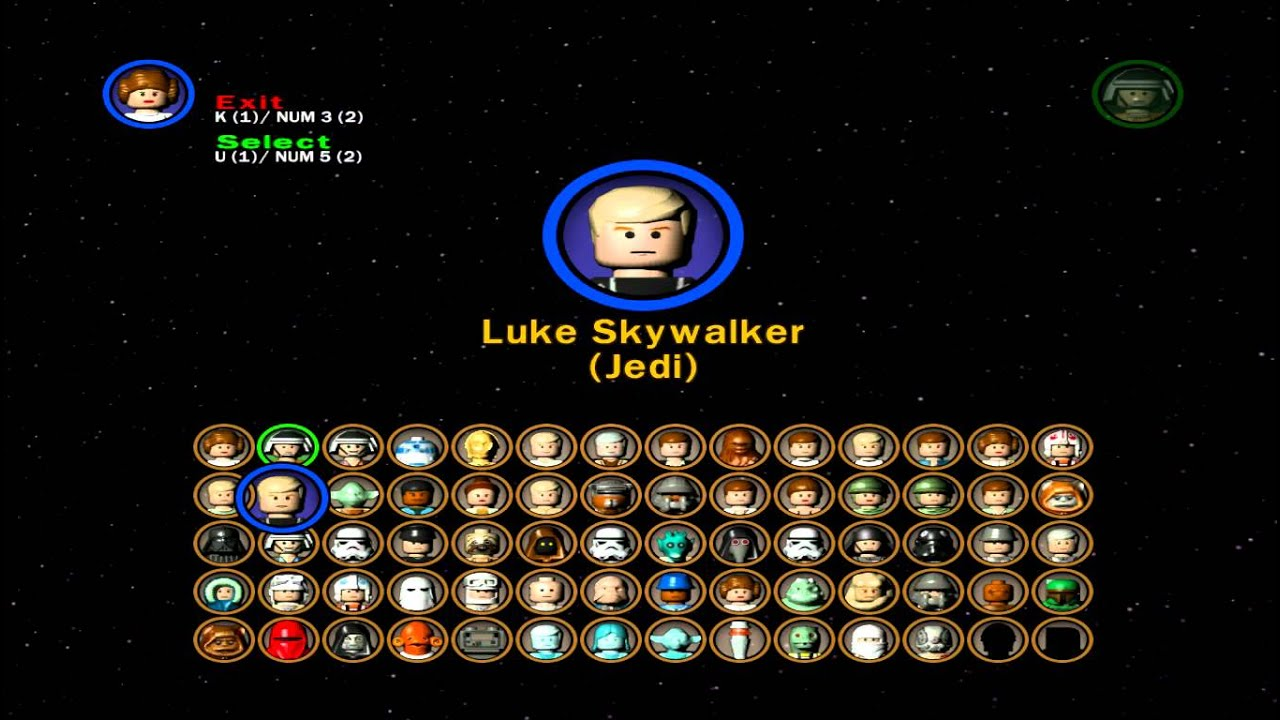 lego star wars 2 all characters  youtube