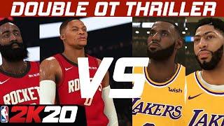 NBA2K20: Rockets vs Lakers 2OT Thriller | Online Gameplay