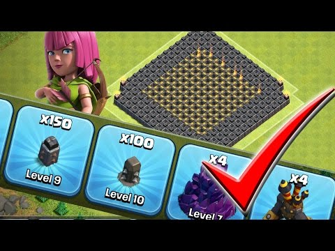 Clash of Clans: 100 MAX WALL DOWN!!!  150 to go... TH9 Farm to Max!!