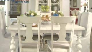 Paula Deen Home 7-pc Paula's Table W/uph Chairs In Linen