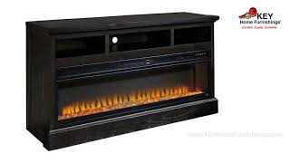 Ashley Sharlowe 64Inch Tv Stand With Electric Fireplace W635FP | KEY Home