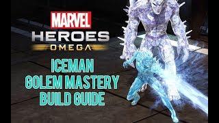 Showcase of my Iceman 'Golem Mastery' build for Marvel Heroes Omega...