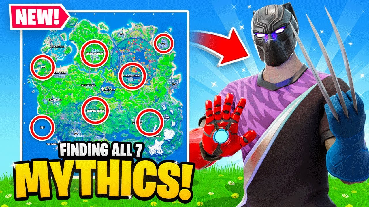 I Found ALL 7 Mythic Weapons in ONE Game! (Fortnite)