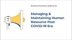 FINPRO WEBINAR on Managing and retaining Human Resources post Covid-19 era