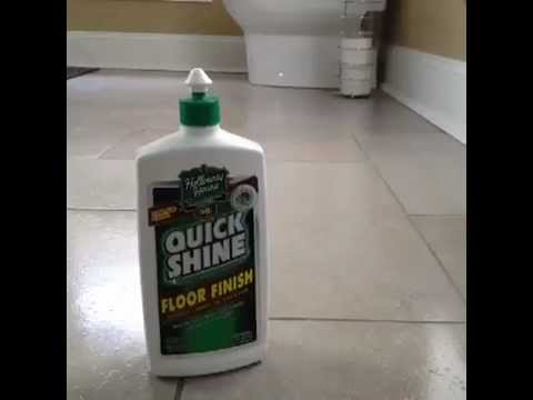 How to Use Quick Shine on Tile Floors  YouTube