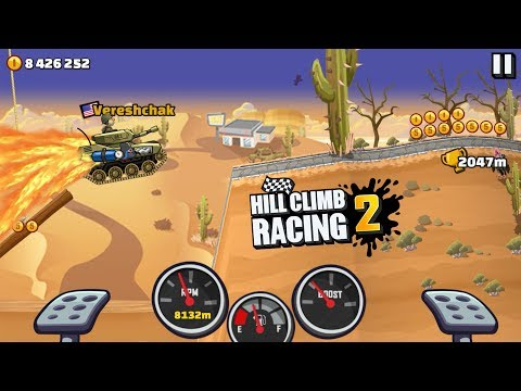 Hill Climb Racing 2 - TANK DESERT VALLEY 10893m NEW RECORD - 동영상