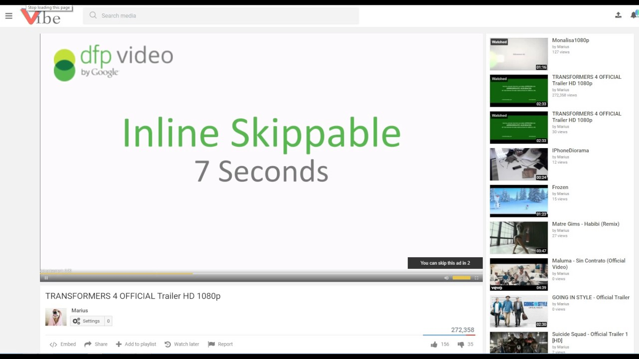 IMA / VPAID ad tags support for PHPVibe (VideoJS video ads)