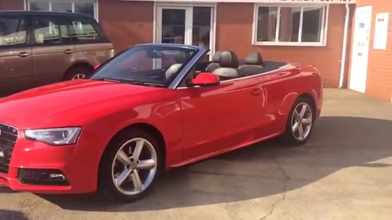 2012 62 audi a5 2 0 tfsi s line cabriolet 2dr multitronic for sale youtube. Black Bedroom Furniture Sets. Home Design Ideas
