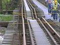 JR花輪線 始発列車、崩落した長木川鉄橋を通過 1997