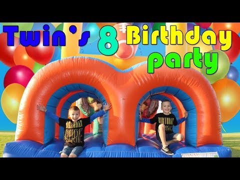 Chris & Zac's GIANT CANDY CARNIVAL Birthday Party!!