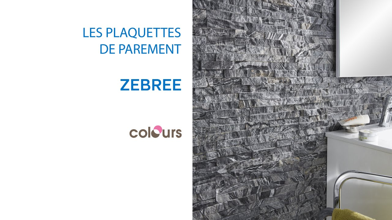 plaquette de parement zebree colours 679490 castorama youtube. Black Bedroom Furniture Sets. Home Design Ideas