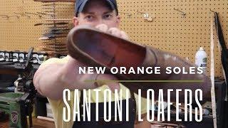 Santoni Loafers - Orange Sole Replacement
