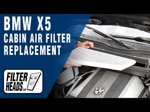 How to Replace Cabin Air Filter BMW X5 - YouTube