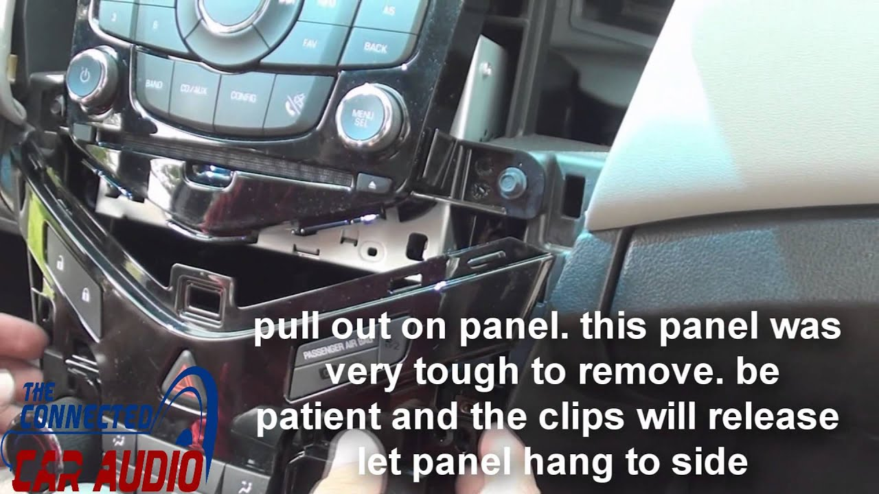 remove factory stereo Chevy cruze 20112015  YouTube