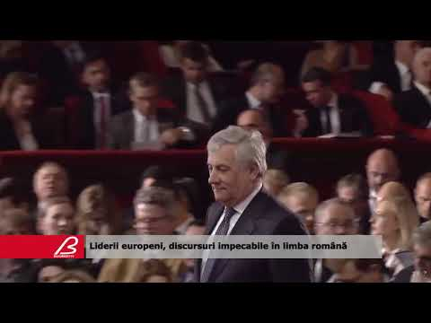 Liderii europeni, discursuri impecabile în limba română