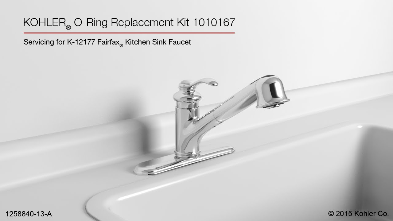 kohler fairfax pull out kitchen sink faucet o ring replacement