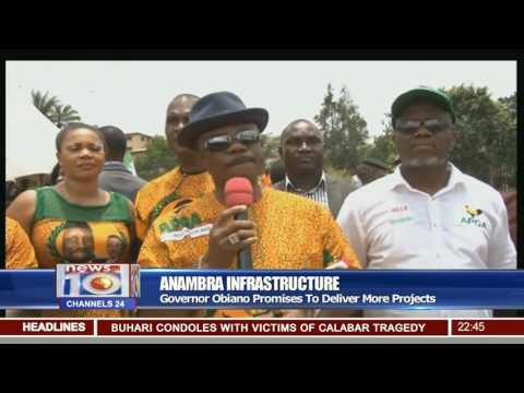 Gov. Obiano Inspects Road Projects Across Anambra State