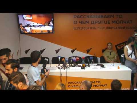 Пресс-конференция сборной Армении по греко-римской борьбе