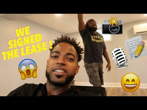 WE GOT A STUDIO ! ** WE SIGNED THE LEASE**