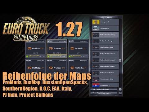 ETS2   ProMods + viele Addons!   Reihenfolge der Maps im Mod-Manager