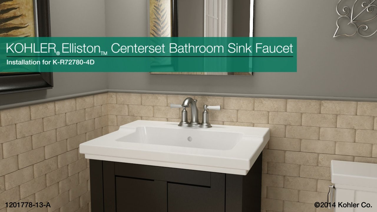 Installation - Elliston Centerset Bathroom Sink Faucet - YouTube